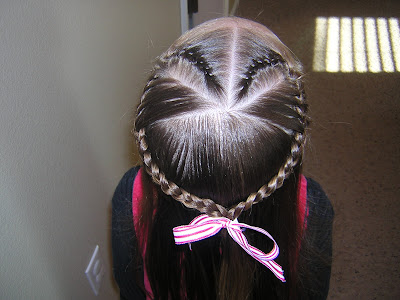french braid hairstyle. French Braid Heart Hairstyle