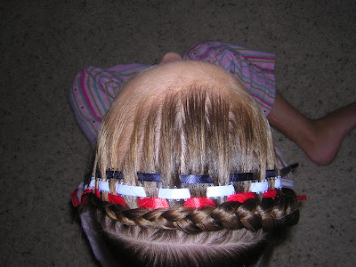 cute hairstyles Take the ends of the ribbons on both sides (and the end of