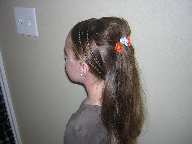 tween hairstyle princess braids