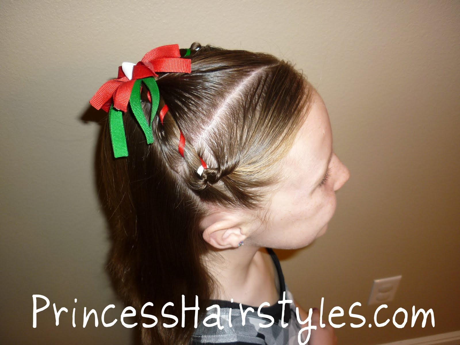christmas hairstyle - easy | hairstyles for girls - princess
