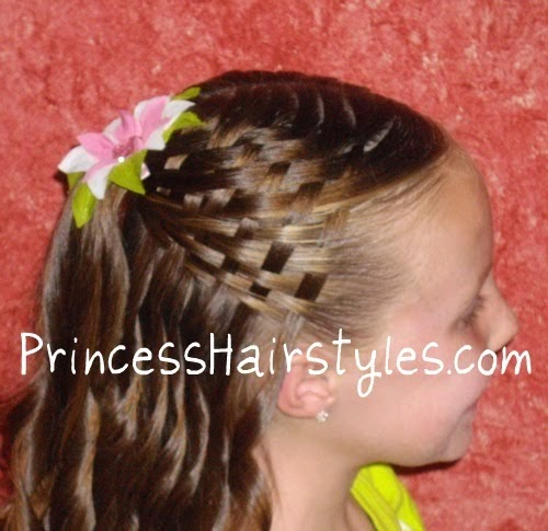 How To Do A Basket Weave Updo : Basket weave hairstyle hairstyles for girls