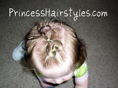 baby heart hair style