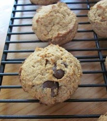 Peanut Butter Flour Chocolate Chip Cookies