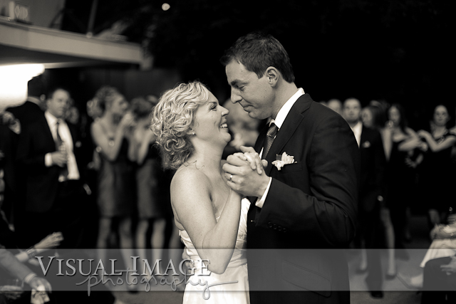 First dance during wedding at Milwaukee Domes