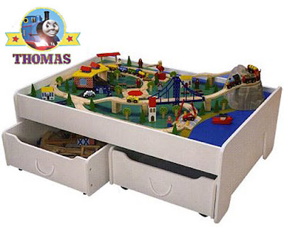 Trundle Train Table Set Or  sc 1 st  Thomas Train Set - Blogger : train table set with storage - pezcame.com