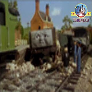 Sir Topham Hatt and rolling stock railway car S.C.Ruffey the leader of troublesome trucks