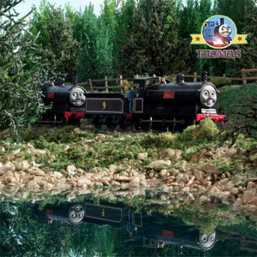 A bad day at castle loch rocky shore side for Donald and Douglass train stuck on the railway line