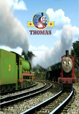 Thomas and Sodor friends Edward engine and Charlie engine helping to find Stephen Runaway toy kite.j
