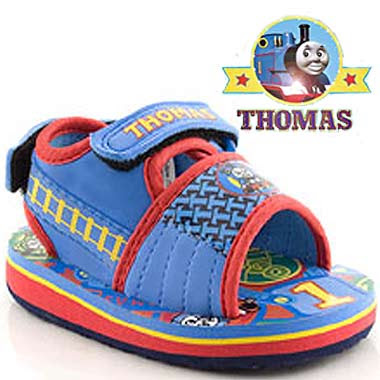 First rate Sodor childrens designer shoe fashion sandals with pictures of Thomas the Train displayed