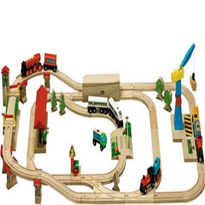 Befitting education toys are wood brio train sets in the picture