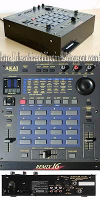 Akai 16 remix a dj Akai 16 sampler key pads pro tools drum machine