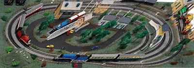 large layout ofThomas tank set oo scale Hornby