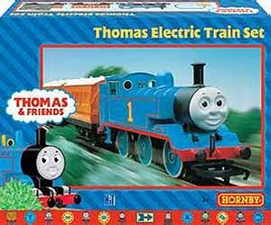 OO Hornby Thomas electric trian set with Passenger Clarabel 4 wheel coach