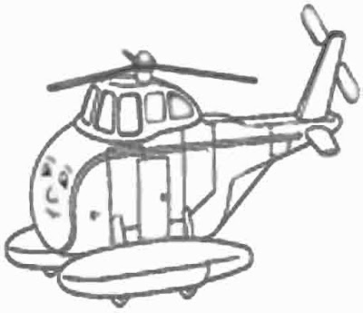 Helicopter harold and Thomas the tank engine coloring pages for kids to print out