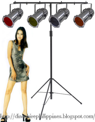 Aluminum dj T-Bars stand for special effect light rigs