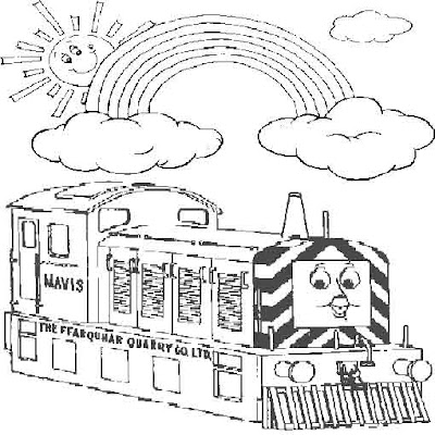 Tank engine Mavis coloring pages online
