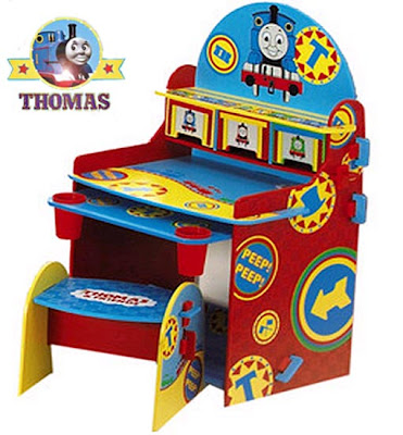 Childrens furniture Thomas table drawing desk and stool set for coloring pictures or drawing images