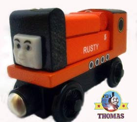 Friends and Thomas the tank engine rusty to the rescue take along Trusty rusty the diesel engine