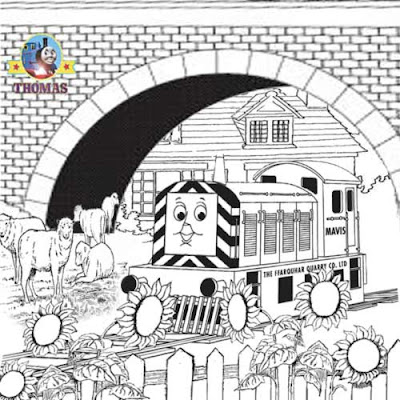 free online Thomas coloring pages for kids arts and crafts with Thomas and friend Mavis the diesel