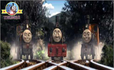 Thomas the tank engine misty island rescue lost at sea Thomas with Bash and Dash tank engine twins