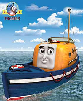 Thomas the train misty island rescue sea Captain the lifeboat sailing on the oceans deep blue water