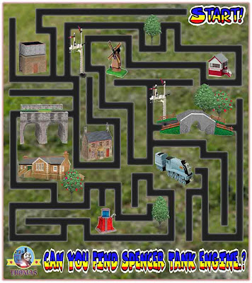 Childrens Maze game online Thomas and friends Spencer the tank engine puzzle find Spencer the train