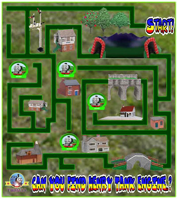 Thomas and friends free online game maze preschool kindergarten learning fun Henry the green engine