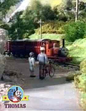 Thomas and friends courageous gallant old engine Rheneas train climb up the Skarloey railway tracks