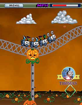 Haunted theme park Thomas ghost train ride roller coaster spooky game free online magic adventure
