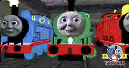 Thomas The Train Percy James And Fruitful Day In Silence At Wooden Tidmouth Roundhouse