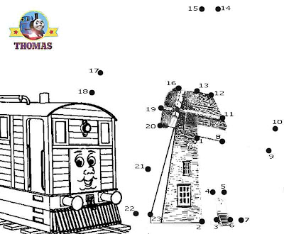 Online game puzzle Thomas and friends Toby the tram engine and the windmill fun dot to dot for kids
