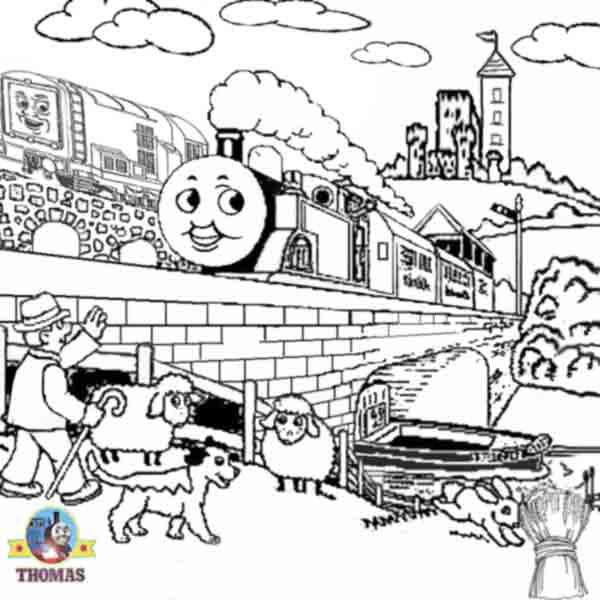 Diesel Number 10 And Thomas The Tank Engine Coloring Pages For Kids To Print Out
