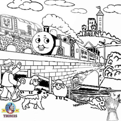 Diesel number 10 and Thomas the tank engine coloring pages for kids to print out and crayoning