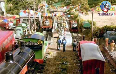 Thomas Rusty to the rescue Rusty train saves the day at the City of Sodor welcome back train party