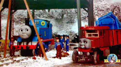 Thomas and friends Elizabeth lorry arrived at the north railroad yard with train winter snow plough