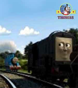 Movie Thomas and friends Misty Island Rescue diesel 10 dose it again character with Thomas the train