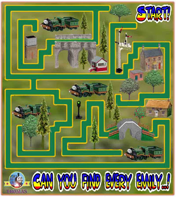 Thomas and friends Emily the tank engine easy maze game puzzle for kids learning activities to print