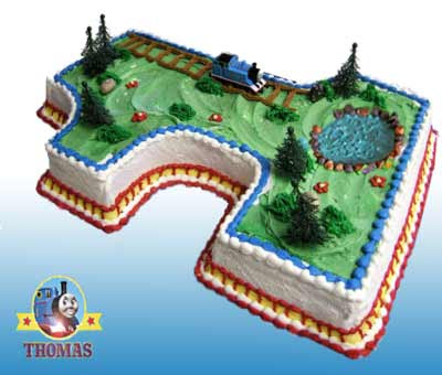 Scrumptious childrens Thomas the tank engine birthday cake recipe and party cake decoration ideas
