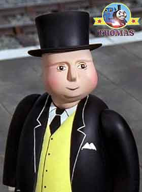 Thomas the tank engine Sir Topham Hatt the Fat controller railway manager says Patience is a virtue