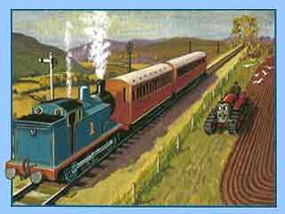 Illustrated Thomas the tank engine pictures and train book legend stories delighting young children