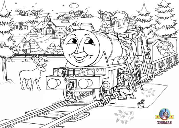 ... Thomas the tank engine colouring pages for kids free winter pictures