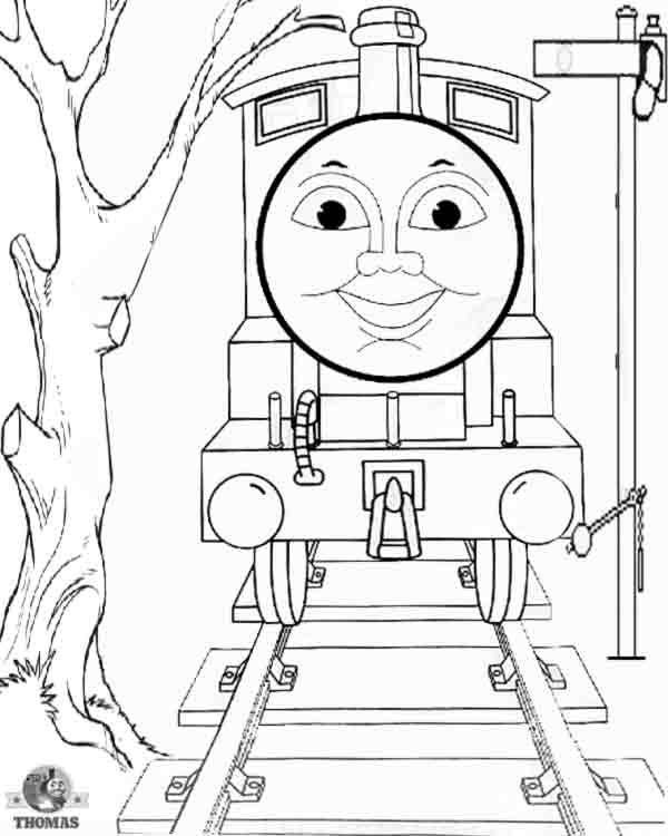 Charlie Thomas the train coloring pages for kids pictures of Thomas  title=