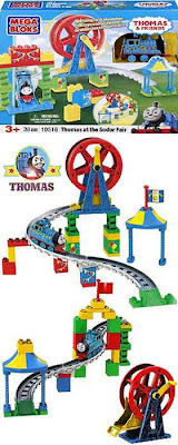 Magical world of Thomas the train Mega Bloks Thomas at the Sodor Fair amusement park Ferriswheel