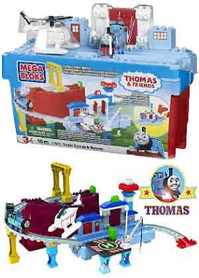 Toy train childrens Mega Bloks Thomas and Friends Sodor Airport set incorporates 75 building brick