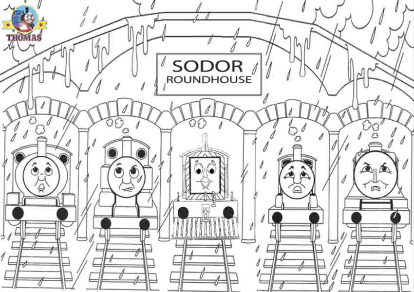 Mavis James Gordon The Tank Engine Percy And Thomas Train Friends Coloring Pages Online