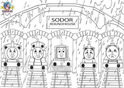 Mavis James Gordon the tank engine Percy and Thomas the train and friends coloring pages online free