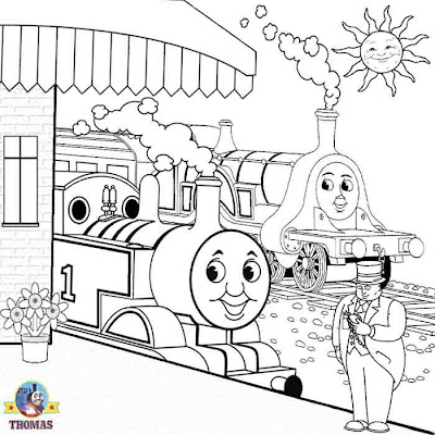 Sir Topham Hatt Thomas the train and friends kids art coloring pages online free drawing worksheets