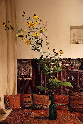 Rudbeckia nitida 'Herbstsonne', Cimicifuga ramosa 'Atropurpurea', Telekia speciosa, Anemone 'Honorine Jobert'