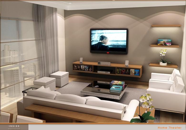 Inside planejamento de interiores alguns projetos for Salas de television modernas