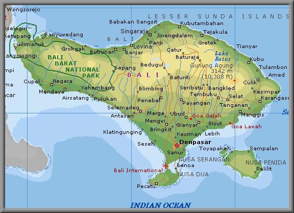 Pulau Bali Map World Map Bali
